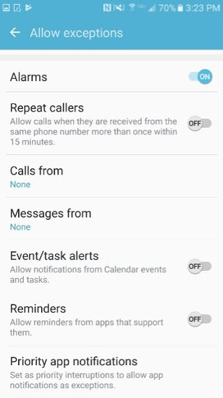 Employee Mobile App Alerts Settings