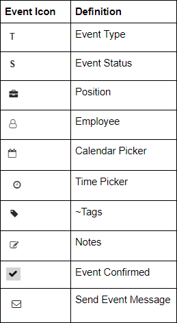Employee Scheduling Software Icons