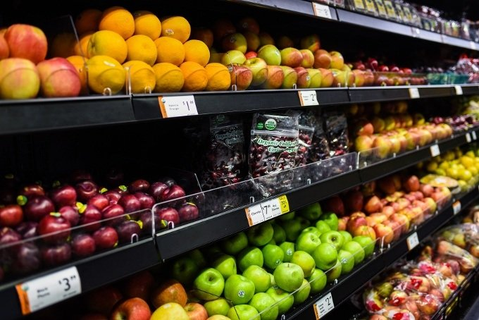 Grocery Store Fresh Fruit