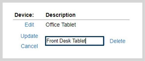 Online Time Clock Station Device Name