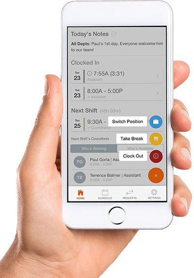 GPS clock in app for employees