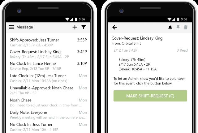 Online employee time tracker app