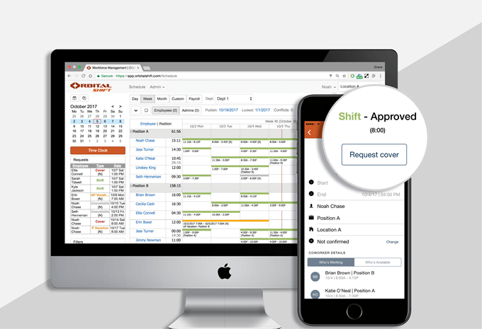 Employee scheduling software and mobile apps