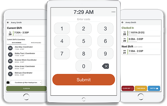 Accurate employee time tracking with the Punch Clock app